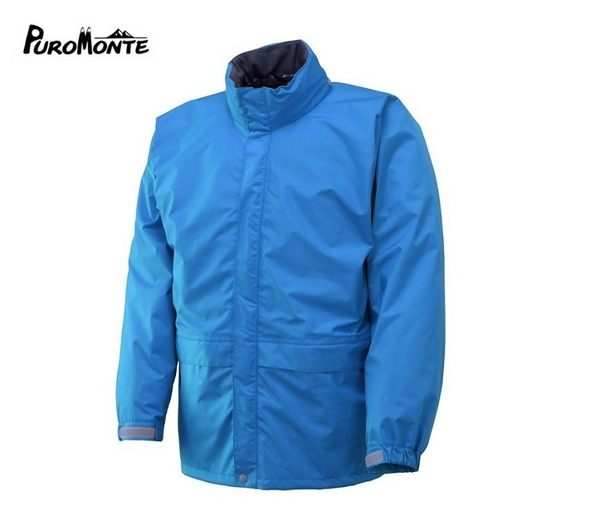 Puro Monte Gore-Tex GT50防水透氣衣男日本製 L 湖水藍 防水外套