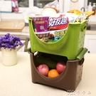 日本進口inomata水果收納筐廚房蔬菜置物架雜物籃可疊加整理箱 卡卡西