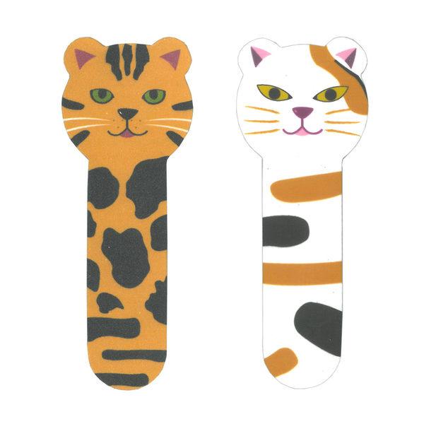 【貓粉選物】貓咪造型指甲美容組合 (銼刀塊+拋光塊) - 兩種組合可以選擇