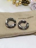 【雪曼國際精品】BOTTEGA VENETA  純銀穿式耳環正版品二手商品~9成新
