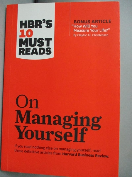 【書寶二手書T8/傳記_HCY】HBR's 10 Must Reads on Managing Yourself_Har