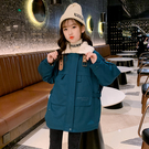 韓版中大童羽絨外套 女寶寶夾克夾棉大毛領時尚潮流 棉襖棉服女童外套 女兒童保暖甜美可愛外套