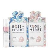 韓國 Rose Heart 超值體驗 韓國直送 戀愛玫瑰粉美肌臉部精華組 保濕噴霧+潤白面膜+保濕面膜