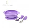 加拿大 MARCUS&MARCUS 動物樂園寶寶握握學習禮盒組-鯨魚(紫)[衛立兒生活館]