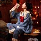 睡衣女秋冬款春秋季可愛珊瑚絨家居服法蘭絨加絨加厚網紅爆款套裝 依凡卡時尚