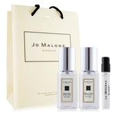 Jo Malone 鼠尾草+英國梨(9ml)X2+葡萄柚針管香水 -贈提袋