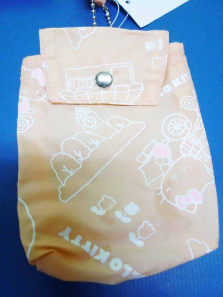 【震撼精品百貨】Hello Kitty 凱蒂貓~環保購物手提袋『粉橘底腳踏車』