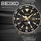 SEIKO日本精工Prospex人體動能兩地時區腕錶-黑金/45mm 5M85-0AA0SD/SUN026J1公司貨