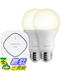 美國貝爾金 Belkin WeMo Smart LED Bulb 智慧型燈泡 電燈 燈具LED Lighting Starter Set 智慧 遠程操控 (
