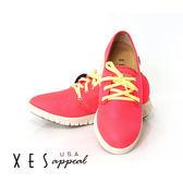 XES 女鞋 運動休閒鞋 超透氣運動休閒 顯色亮眼  桃紅