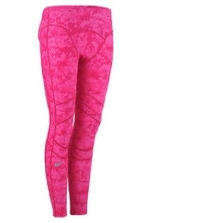 [陽光樂活] ASICS 亞瑟士 INNER MUSCLE 體軸 女款 女印花緊身長褲 機能壓縮 RF XAK564-18(特價出清)