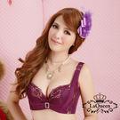LaQueen 蕾絲網紗蠶絲內襯單內衣(7187 紫)