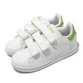 adidas 小童鞋 Stan Smith CF I 白 綠 魔鬼氈 小童鞋 嬰兒鞋 KERMIT 科米蛙 【ACS】 FZ1156