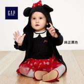 Gap x Disney 迪士尼系列男女嬰兒 米妮長袖針織衫 375357-純正黑色