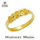 Harvest Moon 富家精品 黃金尾戒 888 發發發 9999 純金金飾 女尾戒子 黃金戒指 可調式戒圍 GR04081