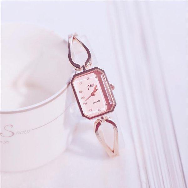 條手錶女方形款金屬大氣學生正韓簡約歐美時尚手式女款WY【中秋節85折】
