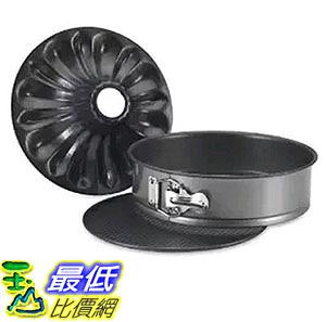 [美國直購] Nordic Ware 50442 蛋糕模具 烤盤 Bundt Fancy Springform Pan with 2 Bottoms, 9 Inch