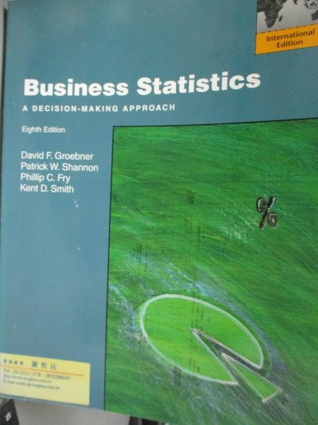 【書寶二手書T8/大學商學_YDQ】Business Statistics_David F. Groebner