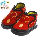 布布童鞋 Disney迪士尼經典米奇防護保暖靴(13~16公分) [ MLK248A ] 紅色款