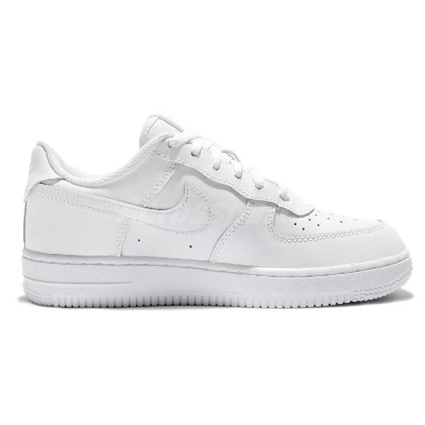 【童鞋US12C-NG出清】Nike Force 1 PS AF1 White 兩腳色差 全白 白 中童鞋【ACS】 314193117~LR~4-821