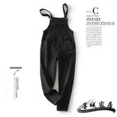 吊帶褲 新款時尚減齡百搭修身顯瘦可調節休閑牛仔背帶褲女DNK908040