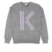 【KENZO】K LOGO長袖上衣(灰色) 2T0564836 66