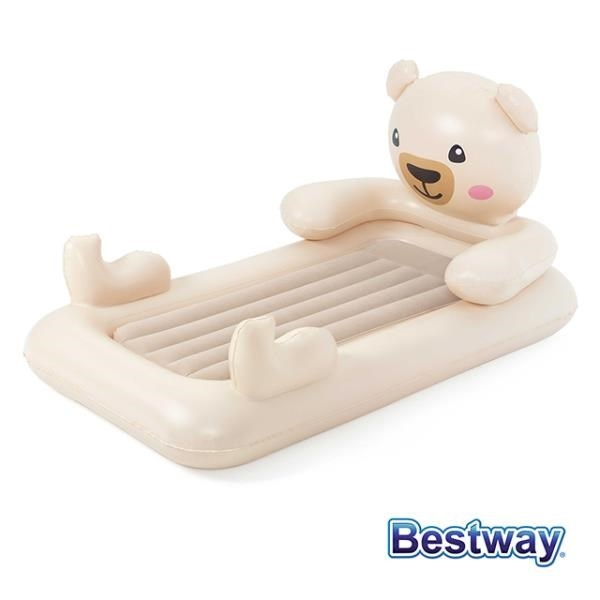 【南紡購物中心】Bestway。泰迪熊兒童充氣床/午休床 67712