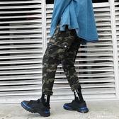 ins工裝褲男9分九分ulzzang褲子潮牌束腳迷彩嘻哈寬鬆bf原宿潮褲 【快速出貨】