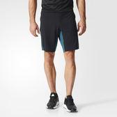 adidas TRAINING 男 黑 藍 愛迪達運動短褲 耐磨 速乾 衝浪 透氣 短褲 climalite BK6170
