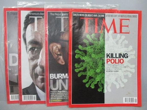 【書寶二手書T5/雜誌期刊_PDQ】TIME_2013/1/14~2013/2/11_共4本合售_Killing Pol