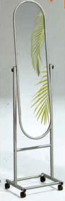【南洋風休閒傢俱】臥室系列-鐵立鏡 12吋穿衣鏡(附輪) 全身鏡 活動立鏡 759-2 OC-1032A