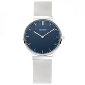 【台南 時代鐘錶 TAYROC】英國簡約現代風 BAYU 米蘭帶時尚腕錶 TY142 藍/銀 40mm