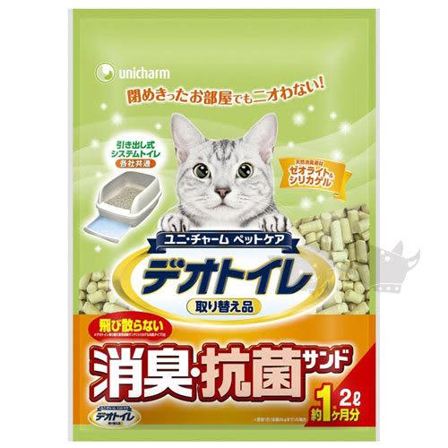 [寵樂子]《日本Unicharm》消臭抗菌貓砂 - 條砂2L