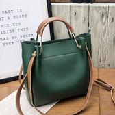 包包女2018新款女包水桶包潮正韓簡約百搭斜挎包手提包單肩包大包 免運直出 交換禮物