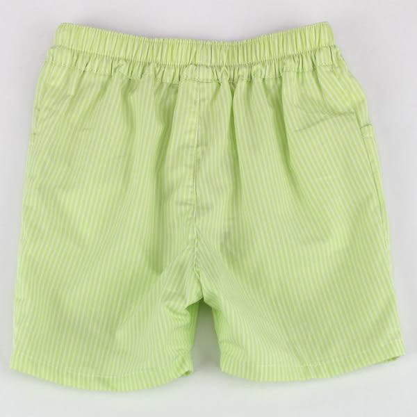 【愛的世界】純棉直條紋五分褲/1~3歲-台灣製- ★春夏下著