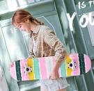 四輪滑板初學者男女生成人兒童滑板青少年短板專業刷街雙翹滑板車 【快速出貨】