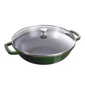 Staub 中華炒鍋 中式炒鍋 炒鍋 30cm 綠色 法國製