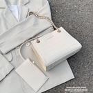 鍊條包夏季質感流行女士小包包2020新款潮時尚鱷魚紋復古鍊條斜背小方包 萊俐亞