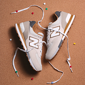 NEW BALANCE 休閒鞋 經典574系列 淺灰卡其 男 (布魯克林) ML574PO2