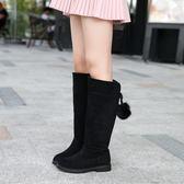 618大促童鞋兒童靴子新款高筒女童雪地靴馬丁秋冬季小公主長靴中大童