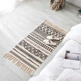 復古民族風北歐簡約天然棉麻地毯臥室床邊腳墊客廳沙發茶幾地墊 凱斯盾