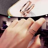 戒指女時尚個性輕奢小眾設計精致食指戒指ins潮網紅簡約女士素圈6 幸福第一站