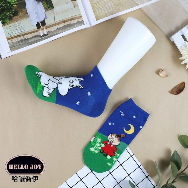 【正韓直送】嚕嚕米拼接短襪 正韓 韓妞必備 小不點 MOOMIN 船型襪女襪 哈囉喬伊L22