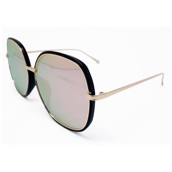 OT SHOP太陽眼鏡‧韓系橢圓框顯瘦小臉加厚鏡框中性墨鏡‧亮黑全黑/黑框玫瑰金‧現貨三色‧W57