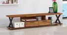 【南洋風休閒傢俱】電視櫃系列-客廳電視櫃-羅馬6 尺柚木色二抽長櫃 電視櫃 音響櫃 (JF726-2)
