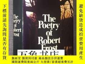 二手書博民逛書店Robert罕見Frost : The Poetry of Robert Frost 弗羅斯特詩全集 原版精裝本帶