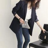西裝外套 西裝外套女韓版裝新款修身休閒chic上衣黑色小西服職業裝 俏腳丫