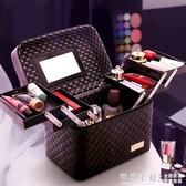 大容量化妝包女便攜多功能手提化妝品收納盒 ins風箱2020新款超火 怦然心動