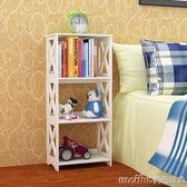 簡易書架客廳陽台臥室裝飾床頭落地置物架收納儲物架家用櫃省空間igo 美芭