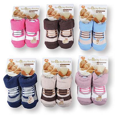 【佳兒園婦幼館】PEILOU 貝柔 寶寶鞋型止滑襪-英倫風B款(P3639)